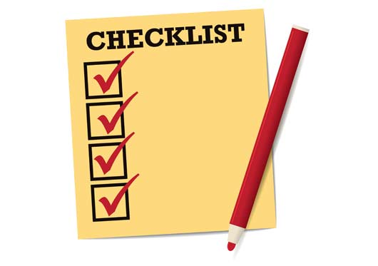 Superannuation check list