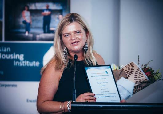 Compass Hunter executive manager accepts AHI NSW award