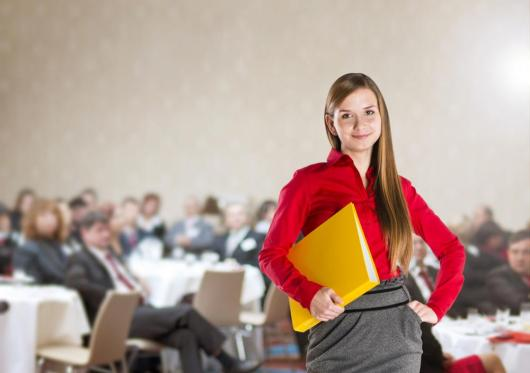 Conference girl