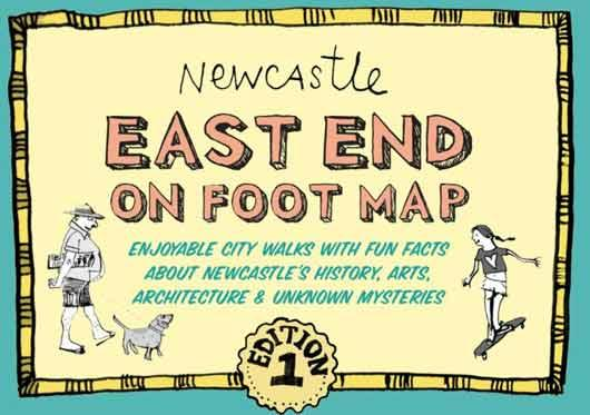 Newcastle walking map