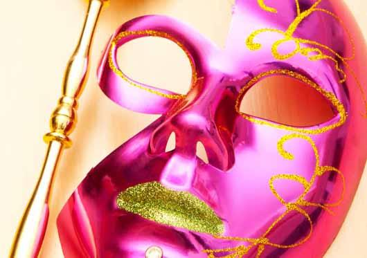 Pink and Gold mask
