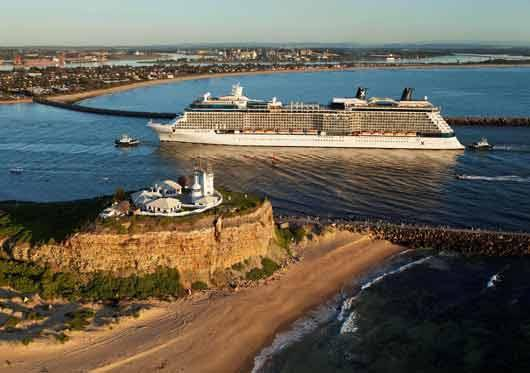 Maiden voyage of the Celebrity Solstice to Newcastle